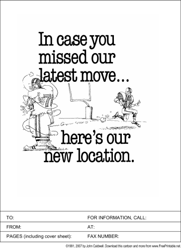 new location fax cover sheet